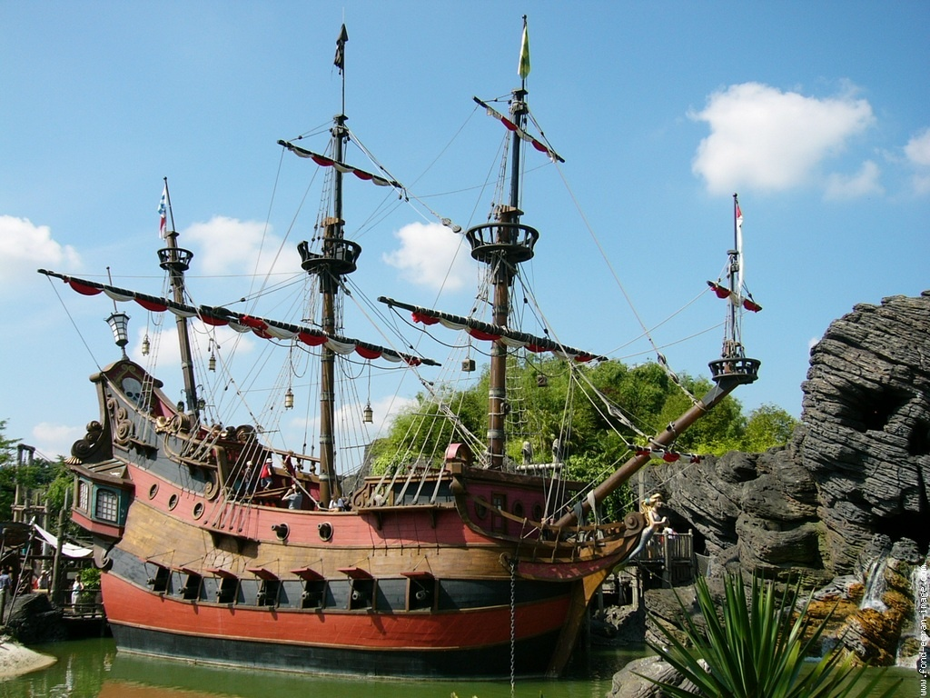 Bateau pirate fond d 39 cran photos humour - Photo de bateau pirate ...