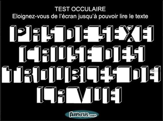 Photos Humour : Test occulaire