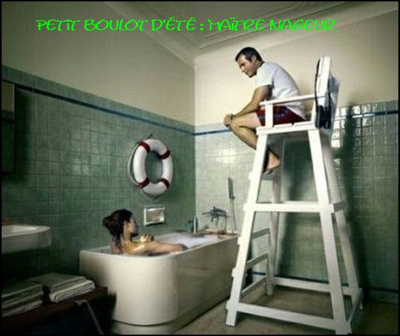 Maitre nageur photos humour for Bathroom funny videos