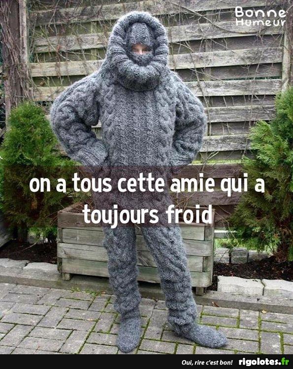 copine frileuse - Photos Humour