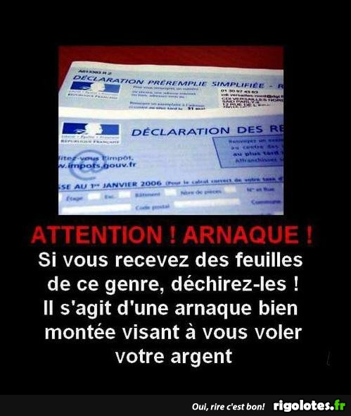 Photos Humour : attention arnaque