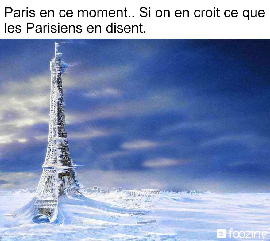 Photos Humour : Paris sous le froid et la neige