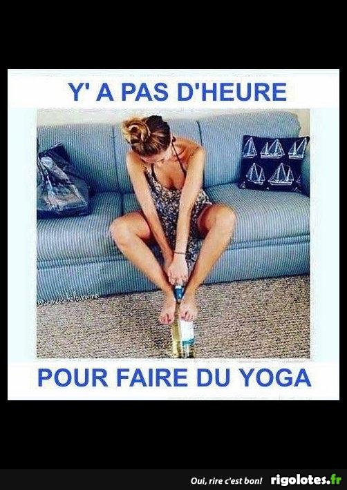 si c est çà le yoga - Photos Humour