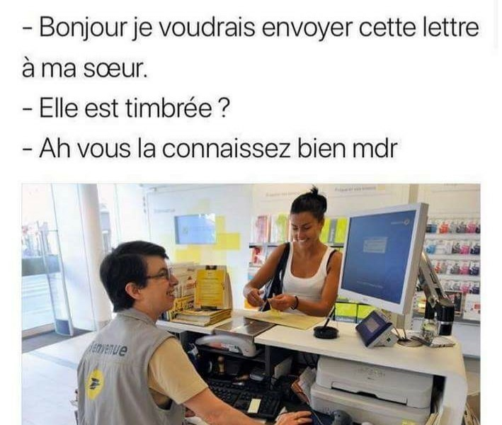 Photos Humour : timbrée
