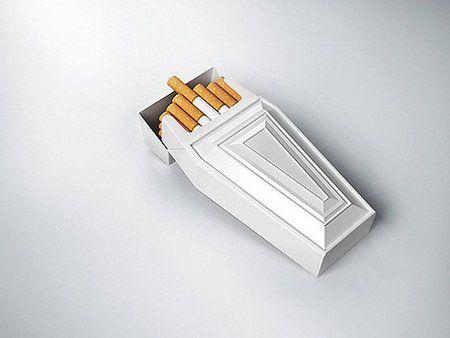 Photos Humour : cerceuille pour fumeur