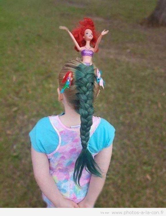 Photos Humour : coiffure petite sirène