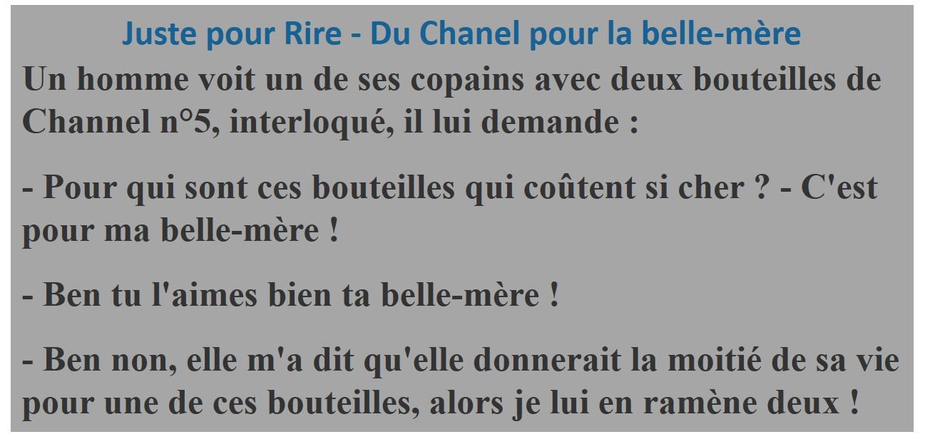 Photos Humour :  Du Chanel pour la belle-mère