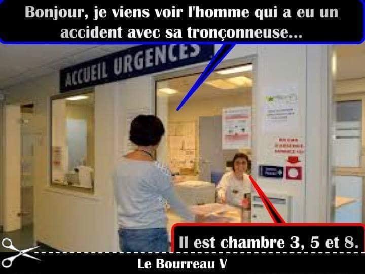 Photos Humour : aux urgences
