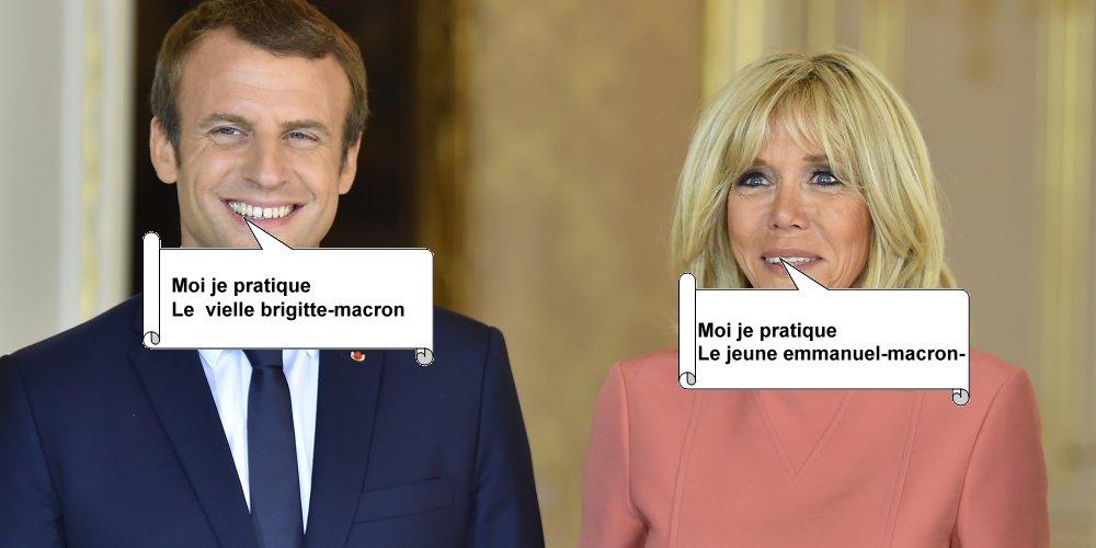 Photos Humour : Emmanuel Macron et Brigitte Macron