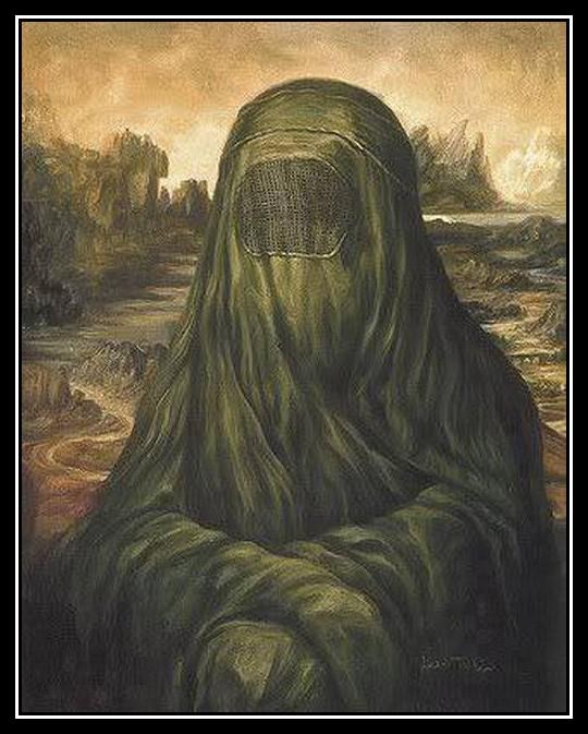 Photos Humour : Mona Lisa musulmane