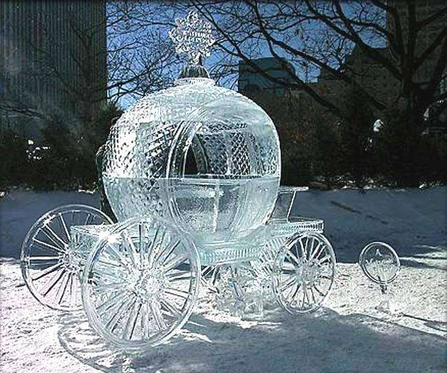 Photos Humour : sculpture-de-glace ncarrosse-glace
