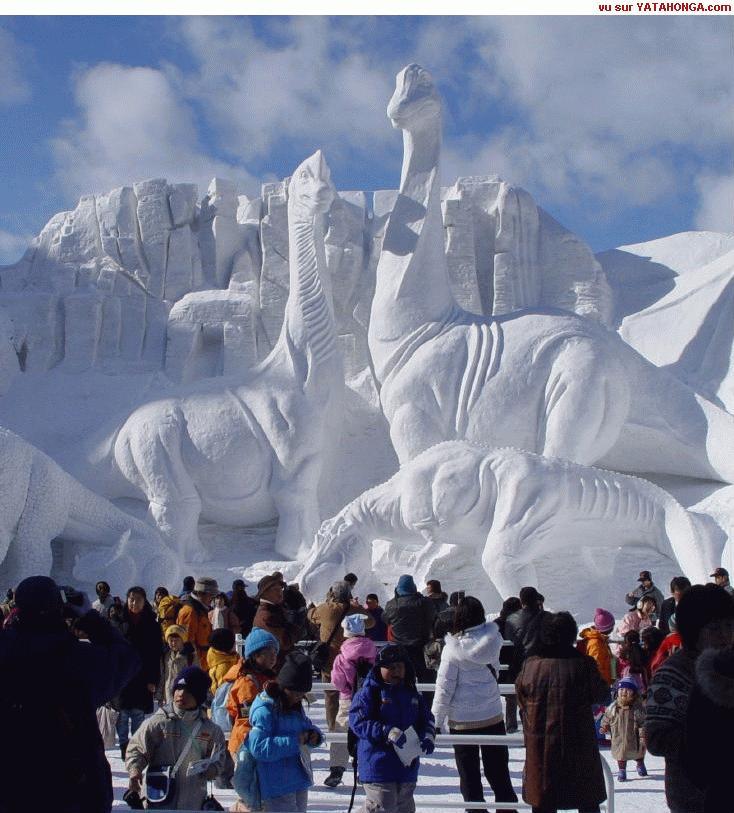 Photos Humour : Sculpture sur glace