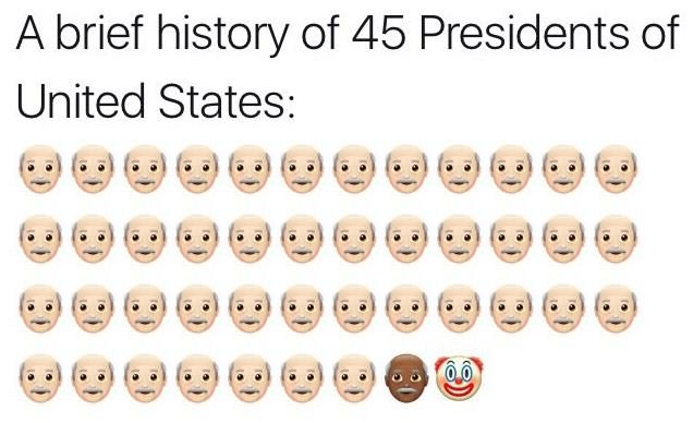 Photos Humour : présidents des Etats Unis