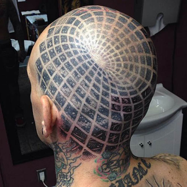 Photos Humour : tatouage-illusion-optique-2