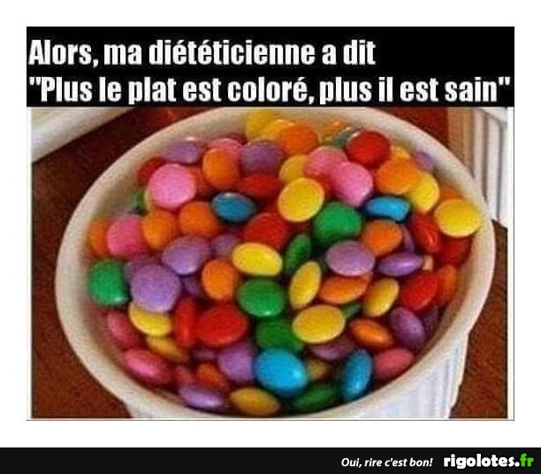 Photos Humour : plat coloré