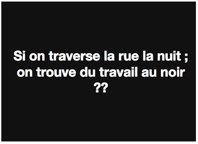 Photos Humour : Si on traverse la rue la nuit