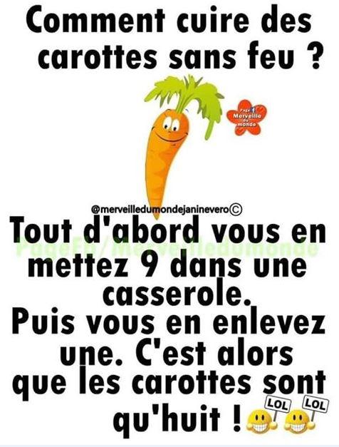 Photos Humour : cuire des carottes