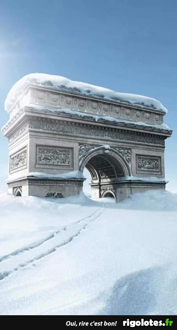 Photos Humour : neige à Paris
