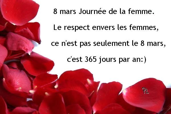 Photos Humour :  8 mars, Journée de la femme. Le respect envers le