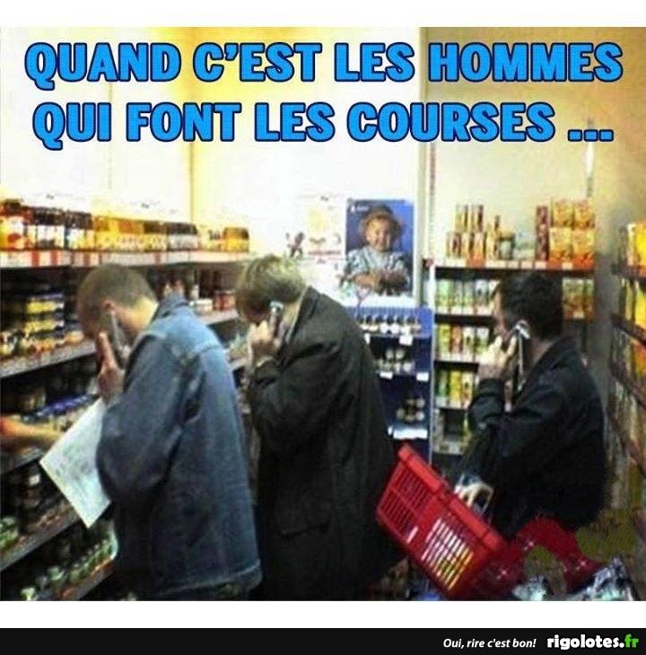 Photos Humour : les hommes aux courses