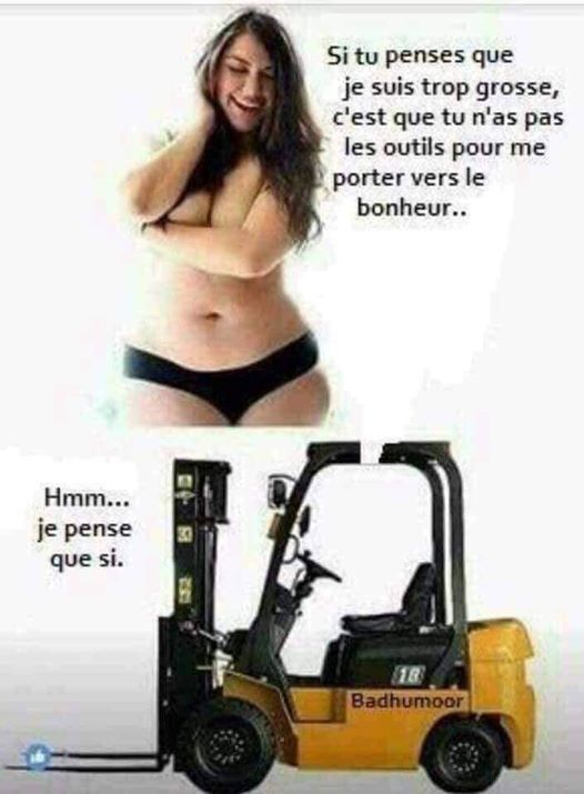 Photos Humour : trop  grosse?