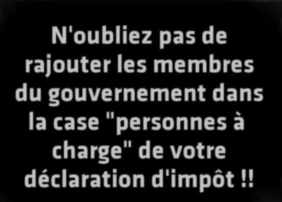 Photos Humour : personnes à charge