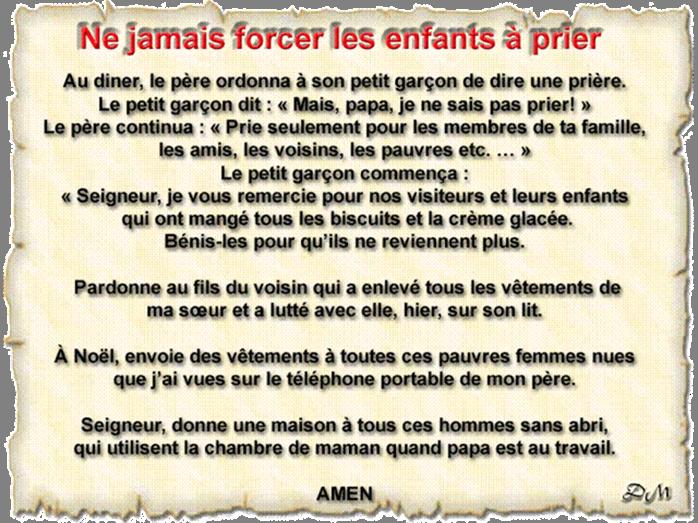 Photos Humour : prière d