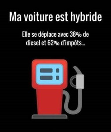 Photos Humour : voiture hybride