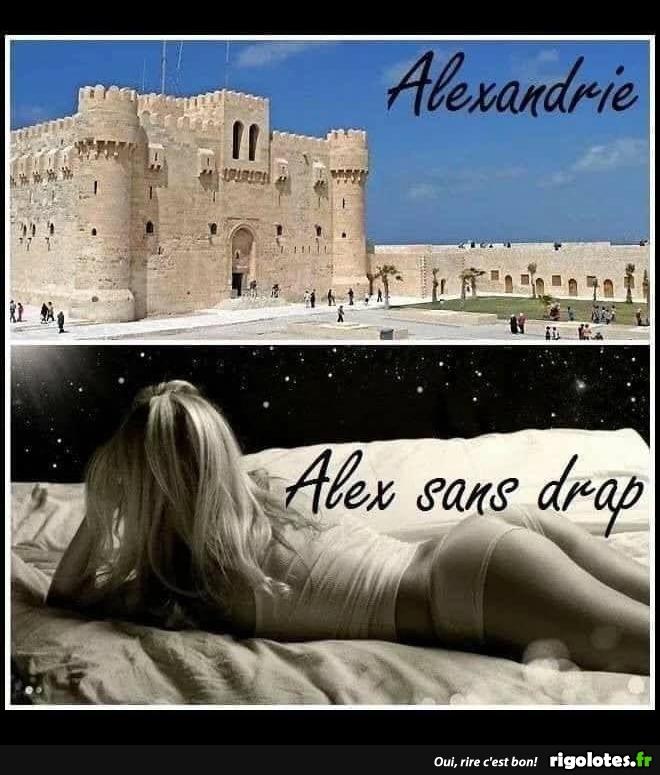 Photos Humour : Alexandrie ou Àlex sans drap