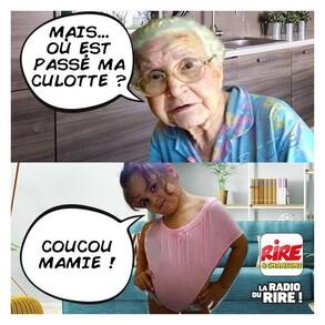 Photos Humour : la culotte à mamie