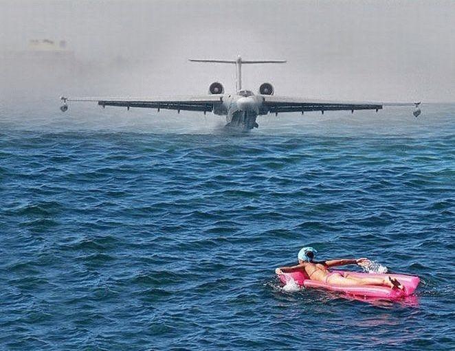 Photos Humour : mer démontée d