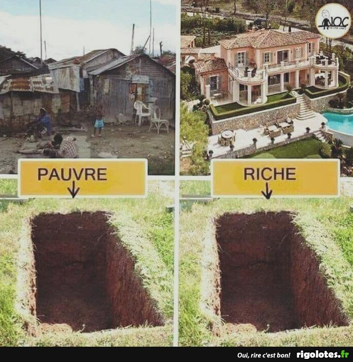 Photos Humour : pauvre/riche