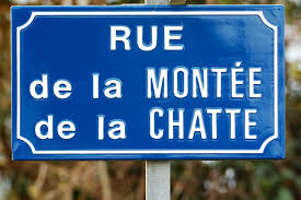 Photos Humour : Rue de la Montée de la chatte