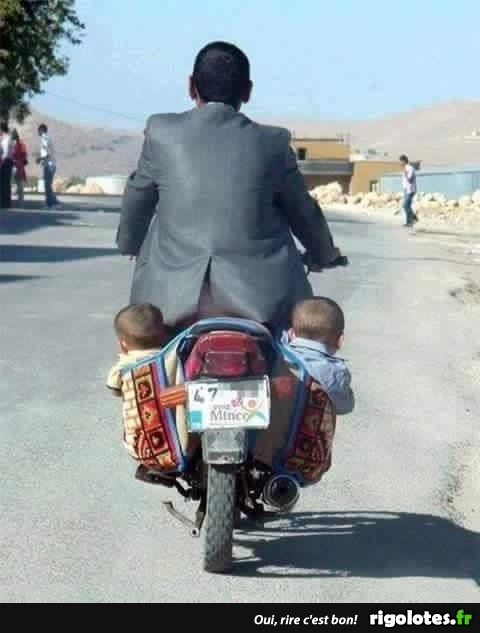 Photos Humour : transport familial