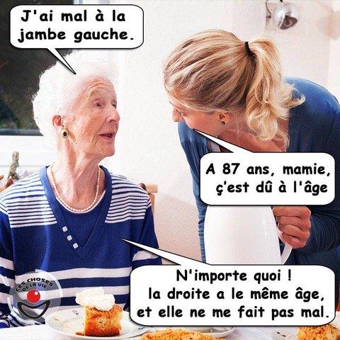 Photos Humour : pas folle la mamie