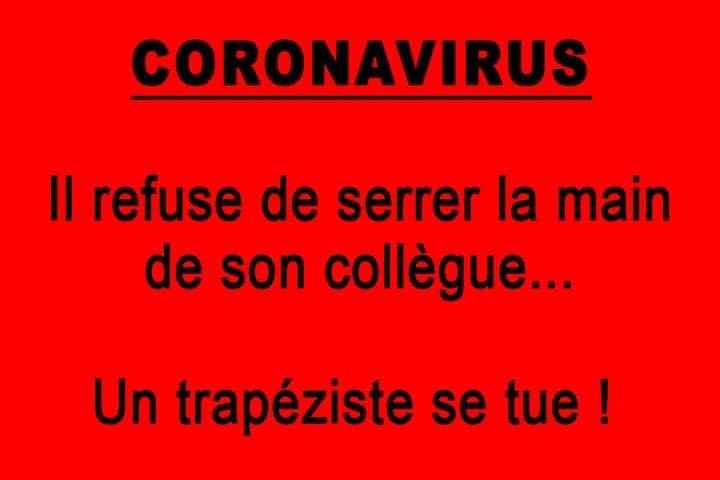 Photos Humour : Coronavirus - Refus  de serrer la main