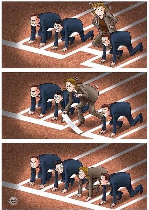 Photos Humour : égalité des chances