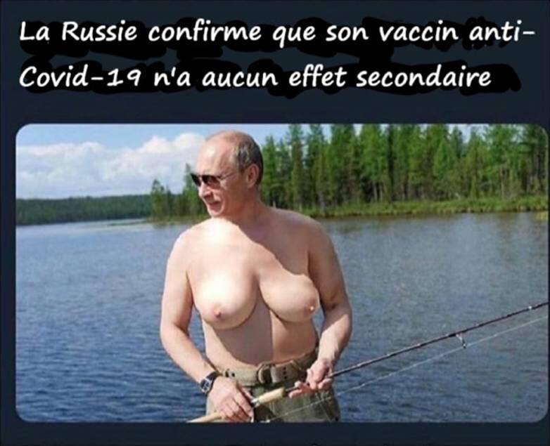 Photos Humour :  BONNE nouvelle ! Vaccin Russe contre le Covid
