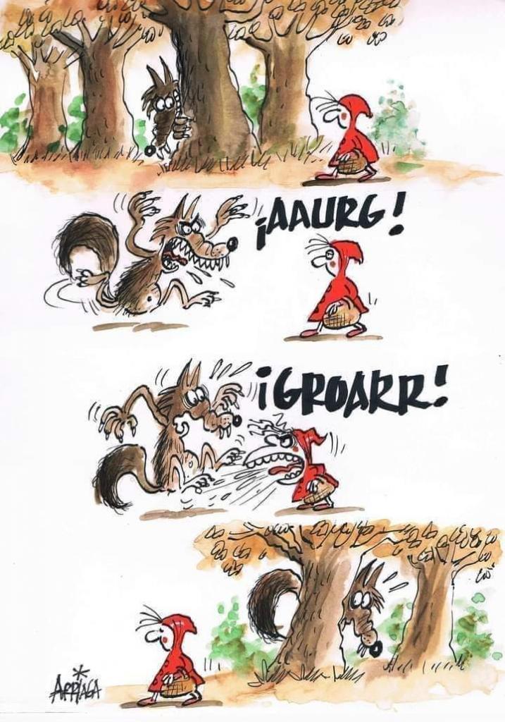 Photos Humour : Qui a peur du grand méchant loup