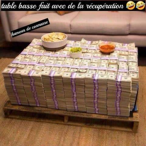 Photos Humour : Table basse