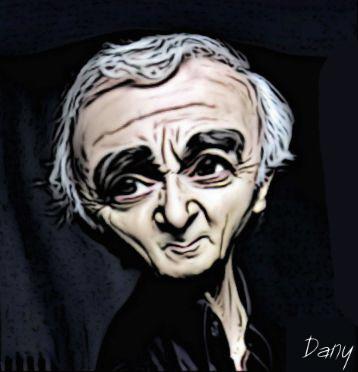 Photos Humour : Caricature Charles Aznavour