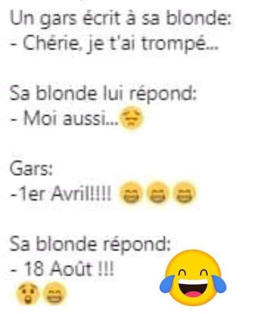 Photos Humour : Un gars écrit à sa blonde