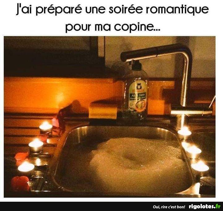 Photos Humour : soirée romantique