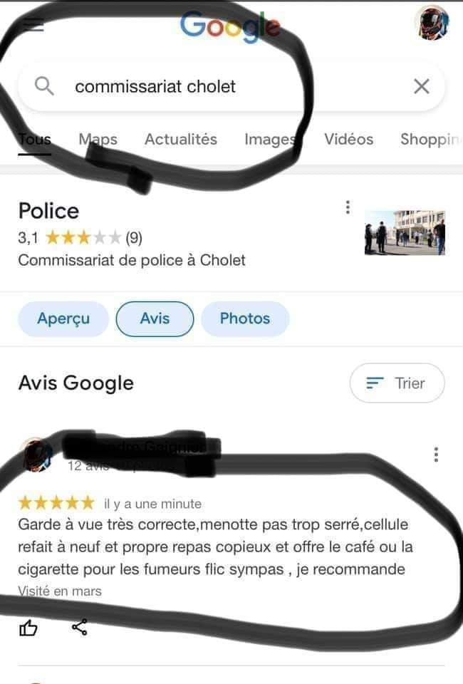 Photos Humour : guide rouge des commissariats de Police